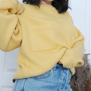 Vintage   yellow knit sweater